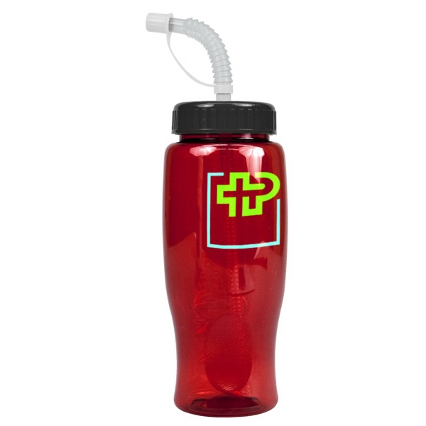 Poly-Pure 27 oz Transparent Bottles - 27 oz. Transparent Sports bottle
