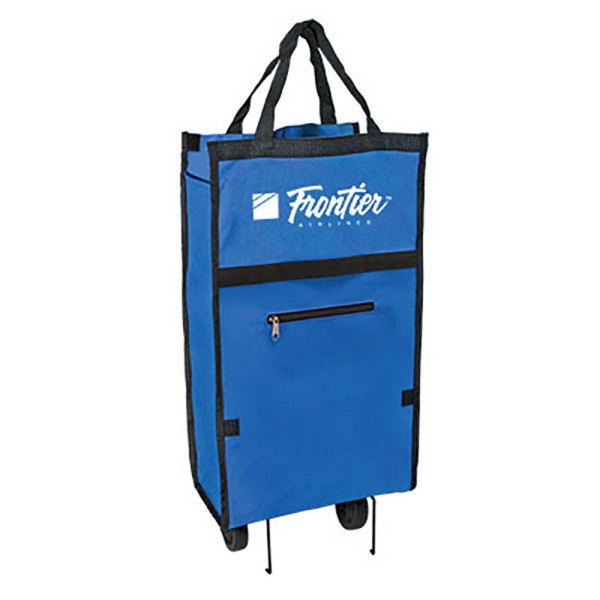 600 D Folding Shopping Bag with Wheels