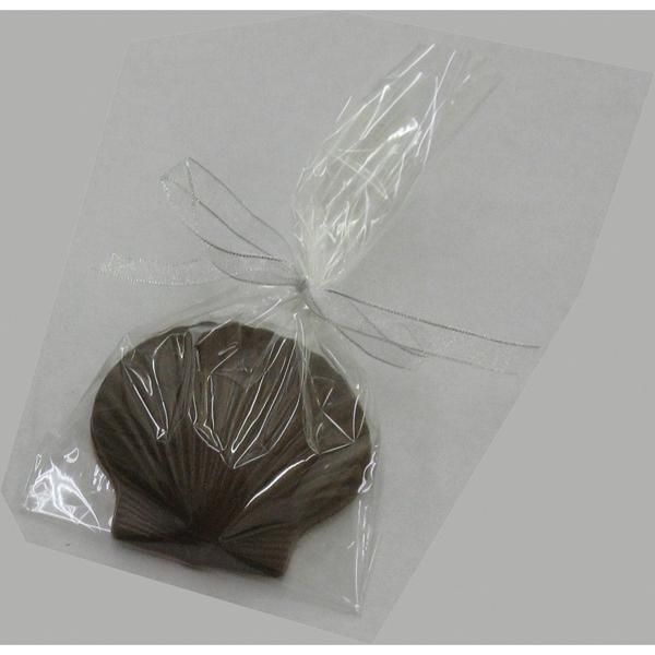 Chocolate Clam Shell W/Ripples Medium