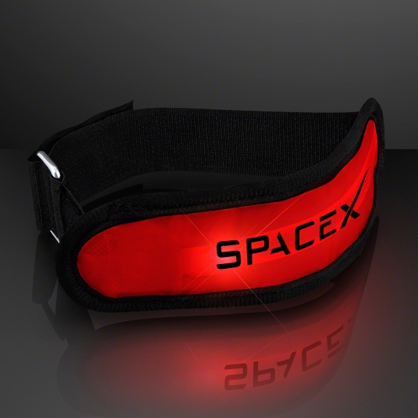Light up red LED armband for night safety