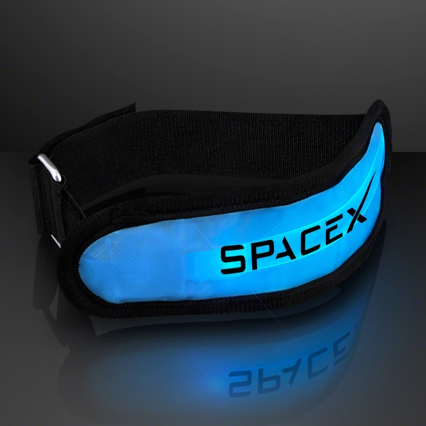 Light up blue LED armband for night safety