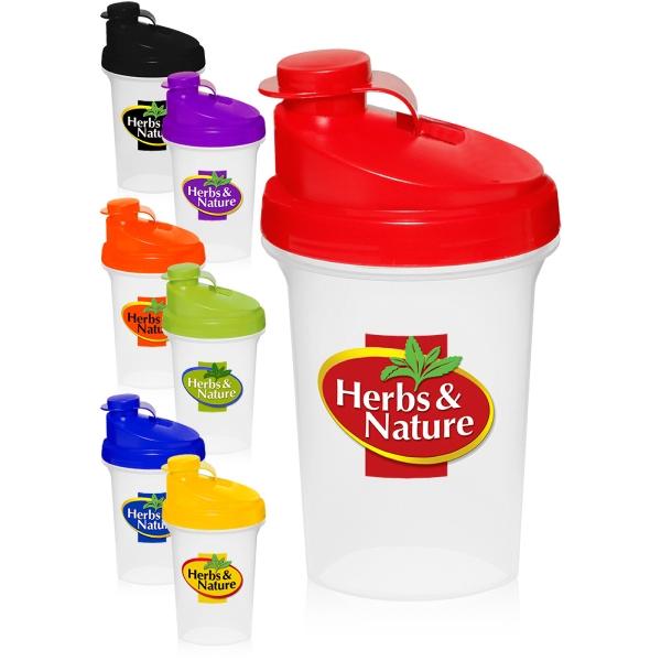 16 oz. Plastic Shaker Bottles
