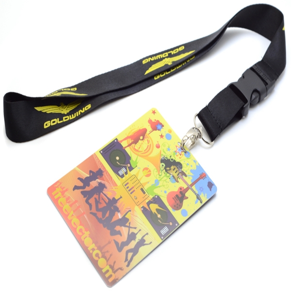 Polyester Lanyard with Full Color PVC Credential Badge