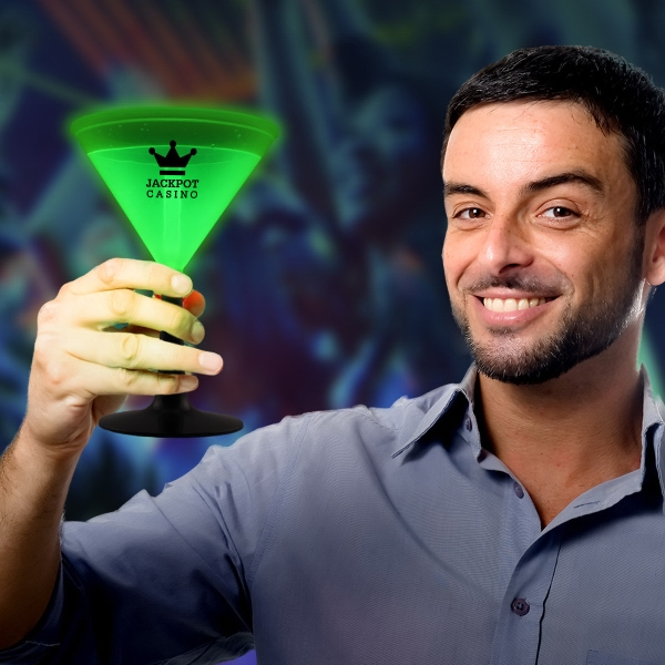 Green 9 oz. Light Up Glow Martini Glass
