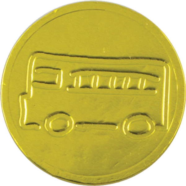 School Bus Chocolate Coin