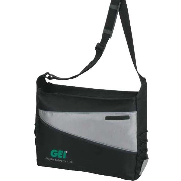 2-Tone Computer Messenger Bag