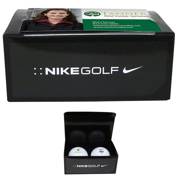 Nike (R) 2-Ball Business Card Box