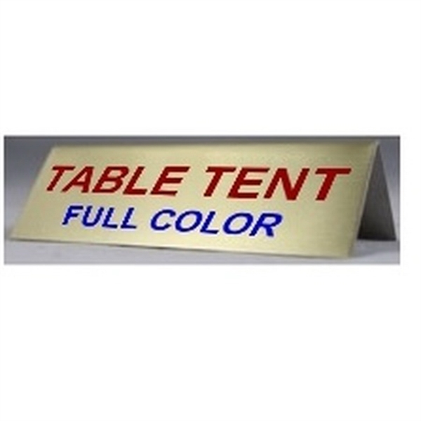 Aluminum Table Tents Signs BNoticed Put A Logo On It The - Table tent signs