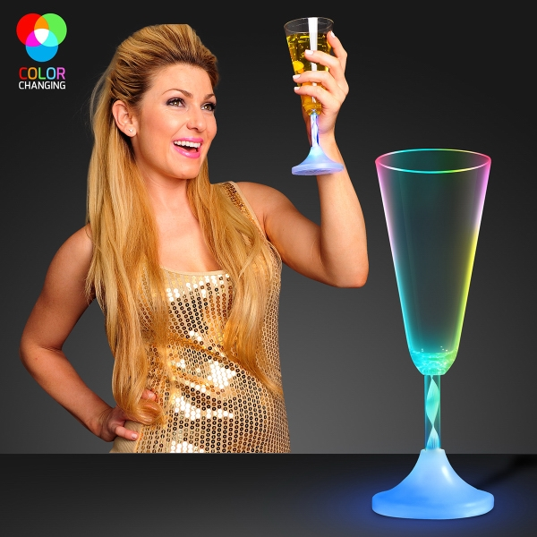 Light up flashing drinking glass