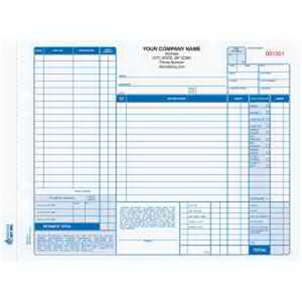 """Snap-A-Part Auto Repair Order - 11"""" x 8 1/2"""" three-part auto repair order form with carbon."""