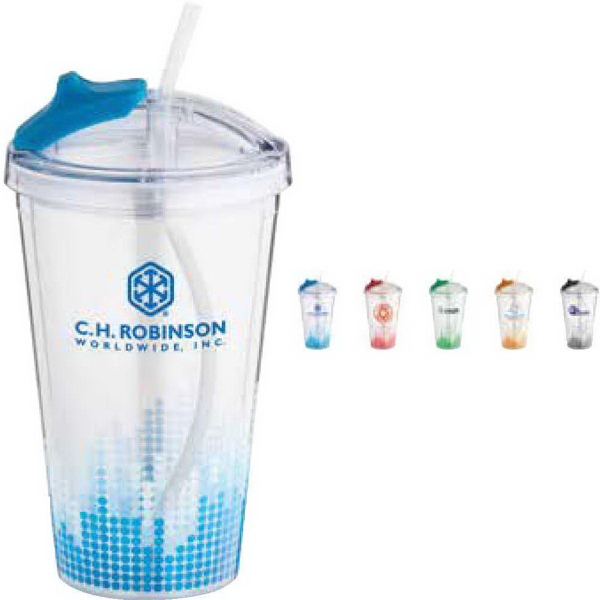 Soundwave Straw Tumbler - 16 Oz.