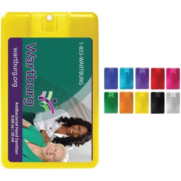 Credit Card Style Antibacterial Hand Sanitizer Spray