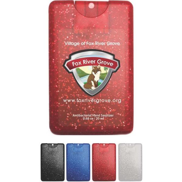 Sparkle/Bling Credit Card Antibacterial Hand Sanitizer