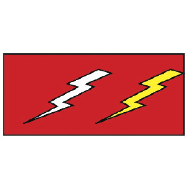 """Lightning Bolts Wristband - Pre-printed strong band Tyvek novelty wristband, 3/4"""" x 10"""". Lightning bolts. Blank."""