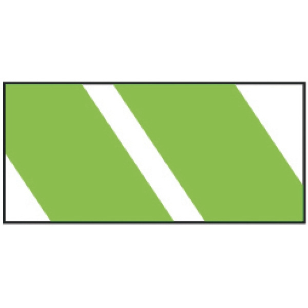 """Green Stripes Wristband - Pre-printed strong band Tyvek wristband, 1"""" x 10"""". Green stripes. Blank."""