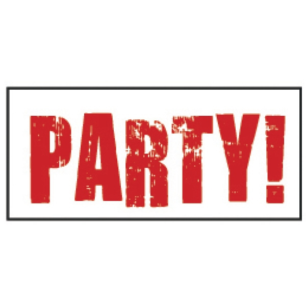 """Red Party! Wristband - Pre-printed strong band Tyvek novelty wristband, 3/4"""" x 10"""". Red party. Blank."""