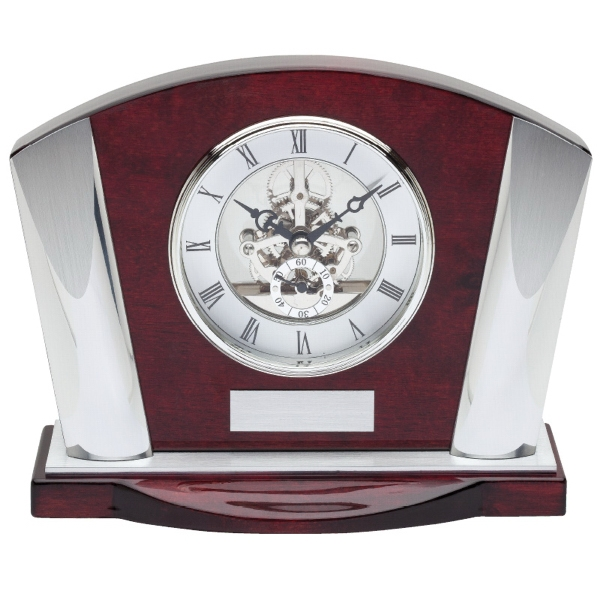 Wood Finish Mahogany Mantle Clock