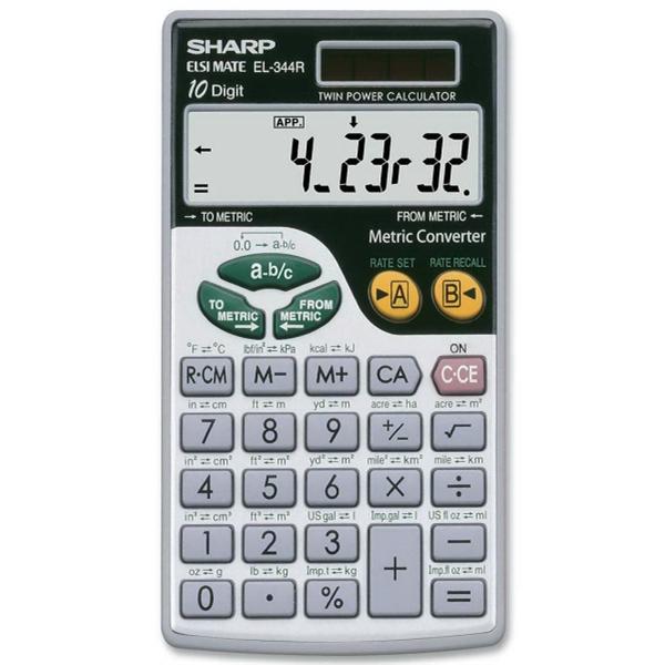 Sharp 10 Digit Calculator, Metric Converter