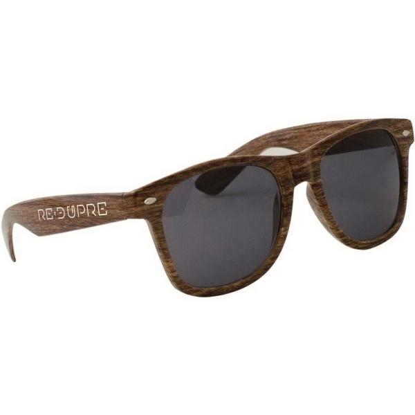 Wood Grain Miami Sunglasses