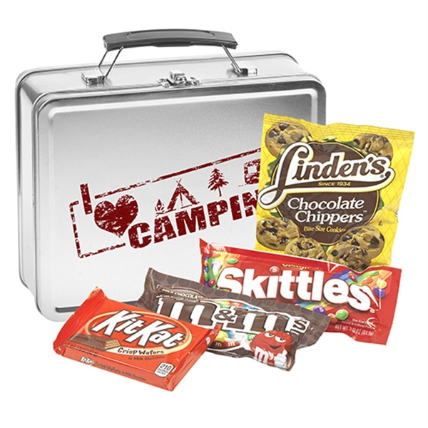 Metal Lunch Box With Candy Mix