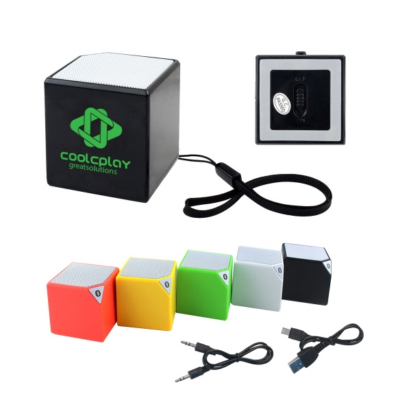 Mini Cube Stereo Bluetooth Speaker with Wrist Strap