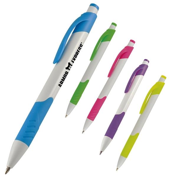 Sorbete Pen - Push action pen with neon trim
