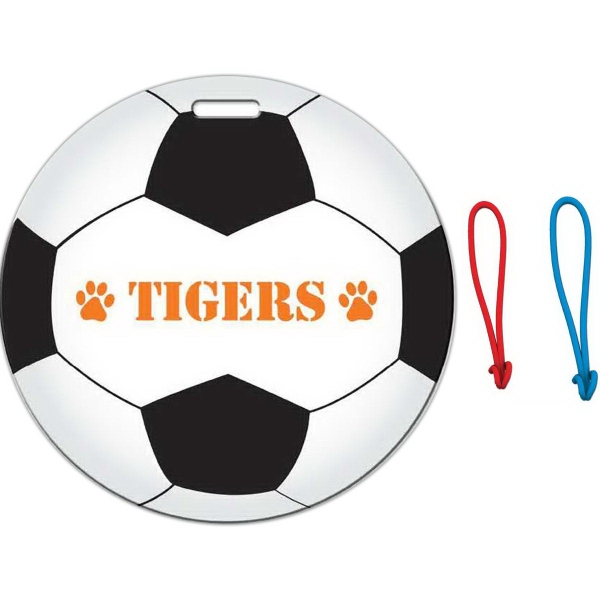 Full Color Luggage Tag - Soccer Ball