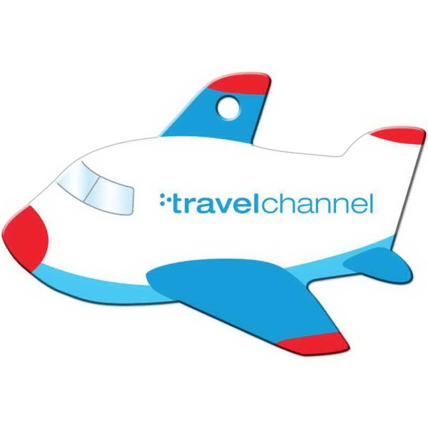 Full Color Luggage Tag - Airplane