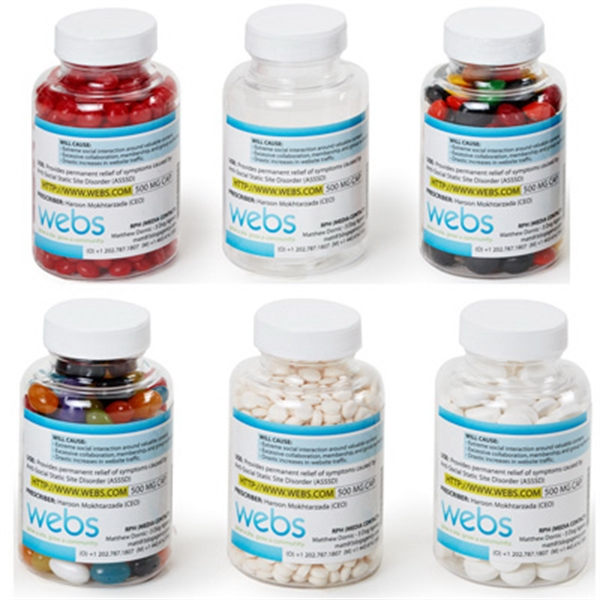 Clear Pill Bottle Medium Empty