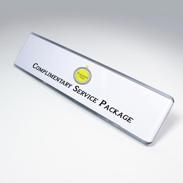 Badge Contemporary Desk Signage Kit, 2