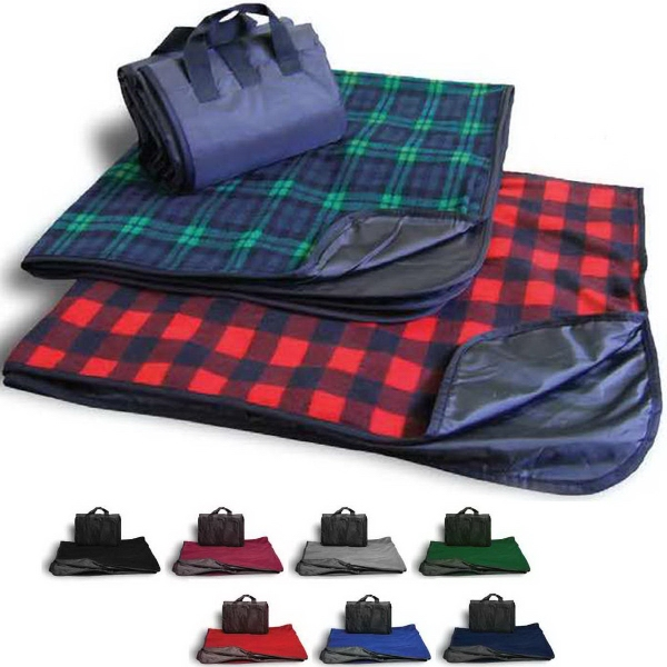 Blank Picnic Fleece Blanket - Plaid