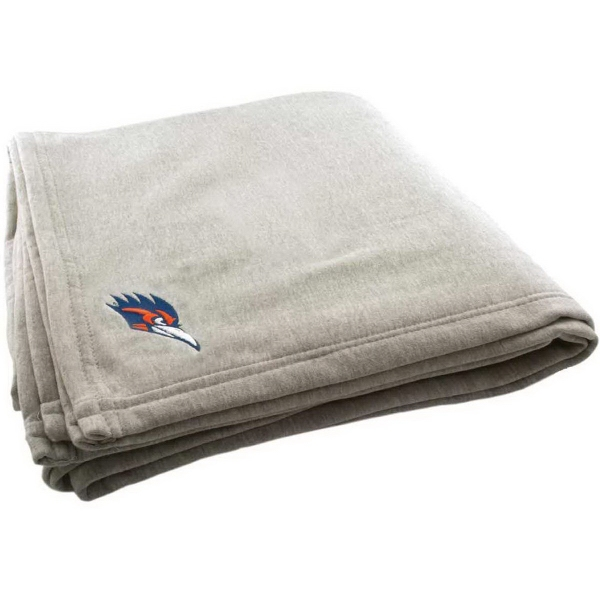 Oversized Embroidered Jersey Cotton Blanket
