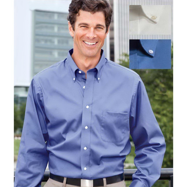 Van Heusen Men's Cotton/Poly Blend Pinpoint Dress Shirt