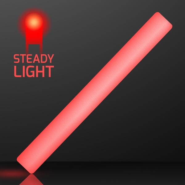 "16"" Steady Light Red LED Cheer Sticks"