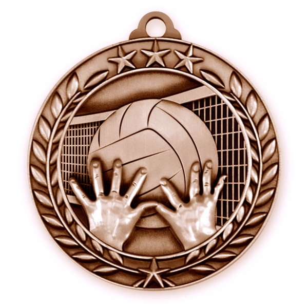 1 3/4'' VOLLEYBALL MEDAL (B)