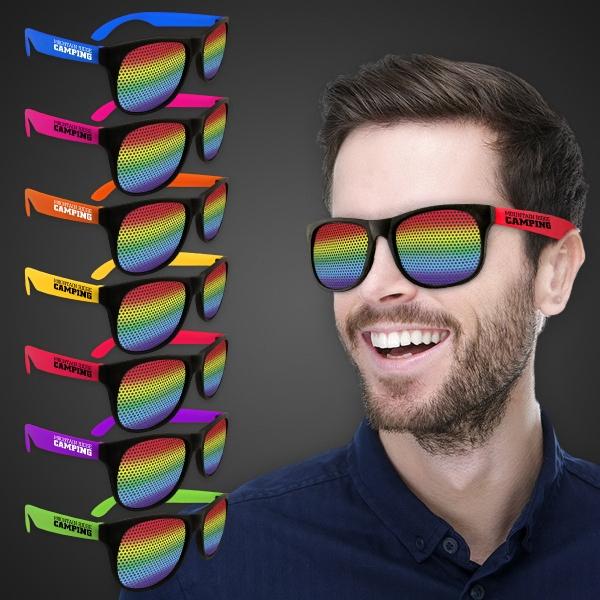 Rainbow Neon Green Billboard Sunglasses
