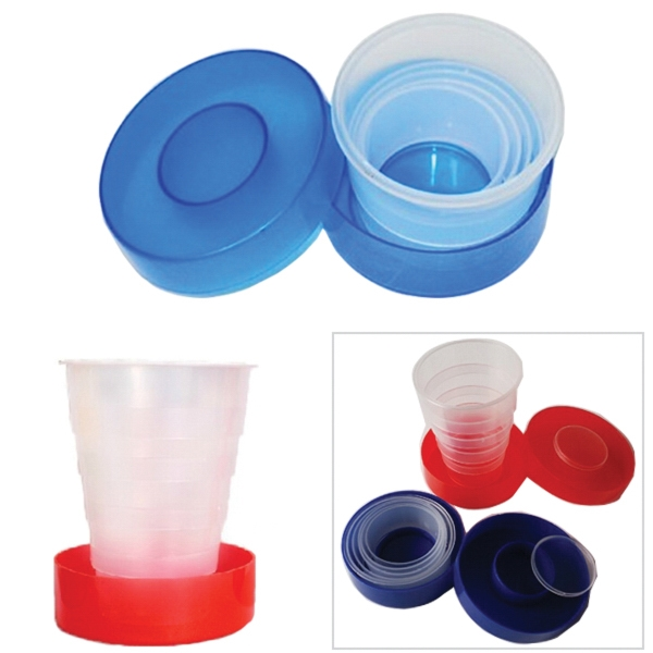 Plastic Folding Cup With Pill Box