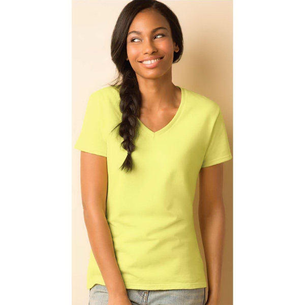 Gildan® Heavy Cotton™ Ladies' V-Neck Tee