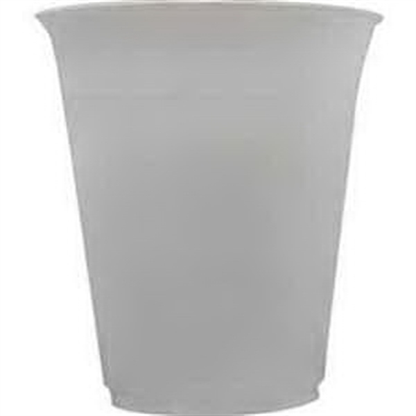 Ribbed Translucent Plastic Cup