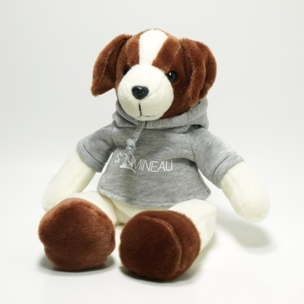 """12"""" Dashable Duke Dog with Hoodie and One Color Imprint"""