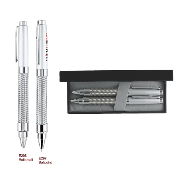 Ballpoint Pen & Rollerball Metal Pen Set