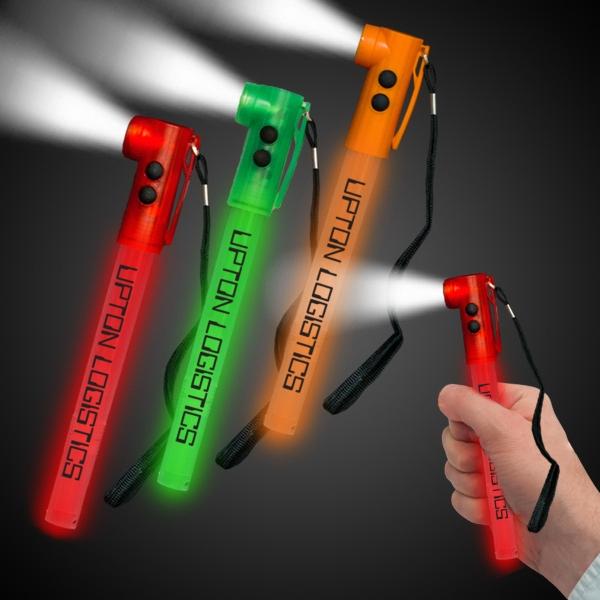 """Green 8"""" Light-Up LED Glow Safety Stix"""