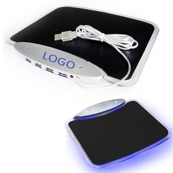 4 Ports USB Hub Mouse Pad
