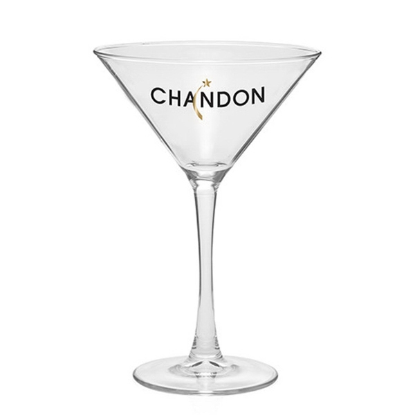 Clear 7.25 oz printed martini glass