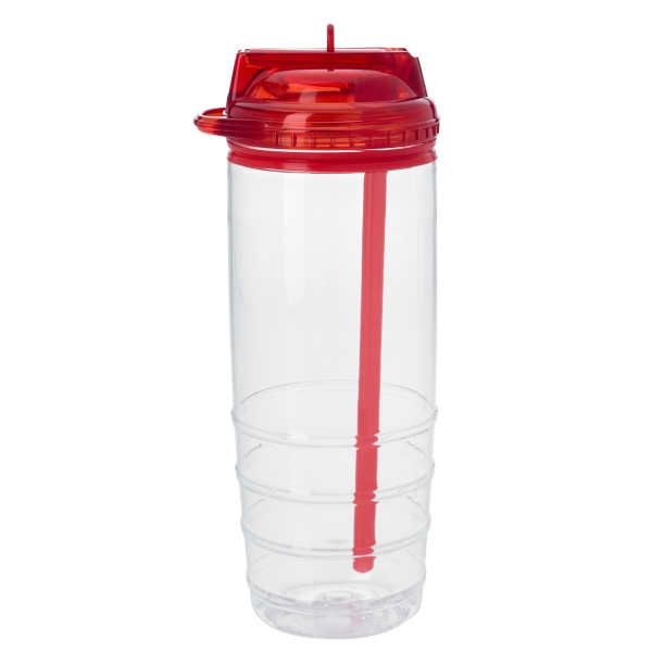 28 oz Reagan bottle with straw