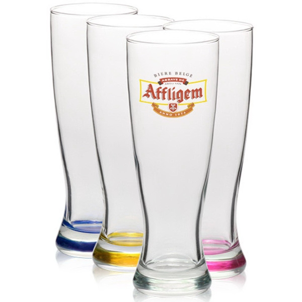 Clear 23 oz pilsner beer glass