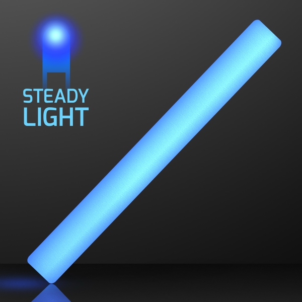 "16"" Steady Lighting Blue LED Cheer Sticks"