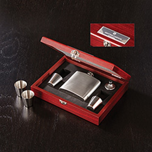 Stainless Steel Flask Box Set