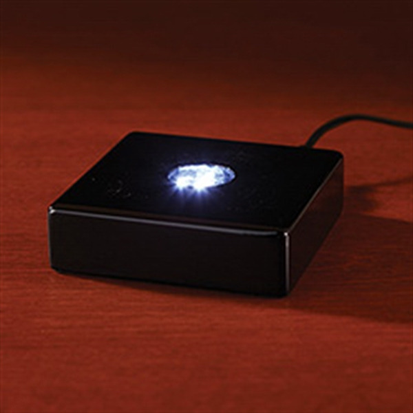 Deluxe Black Square Lighted Base