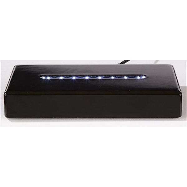 Deluxe Black Rectangle Lighted Base